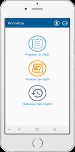 image of app start view